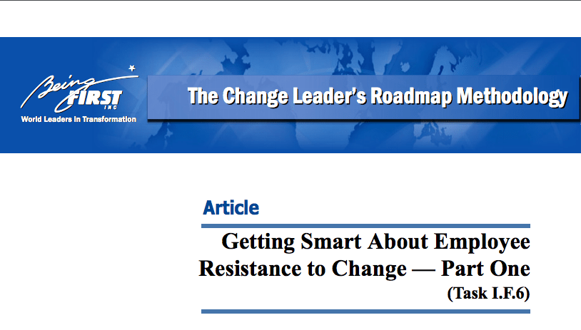 Getting Smart About Employee Resistance - Part 1