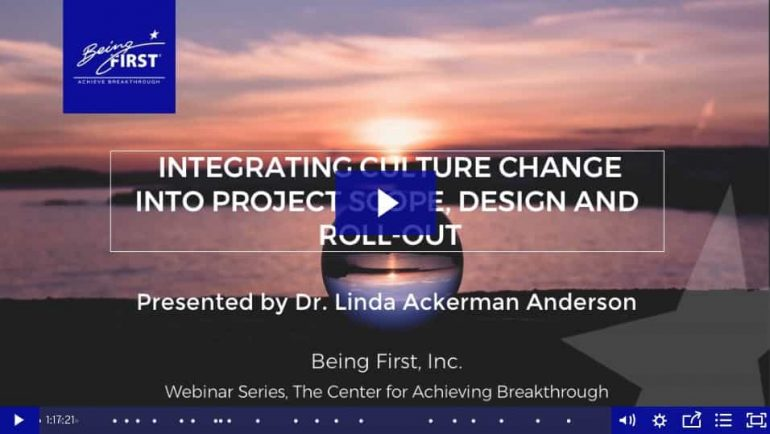 Integrating Culture Change in Project Scope, Design and Roll-Out Webinar