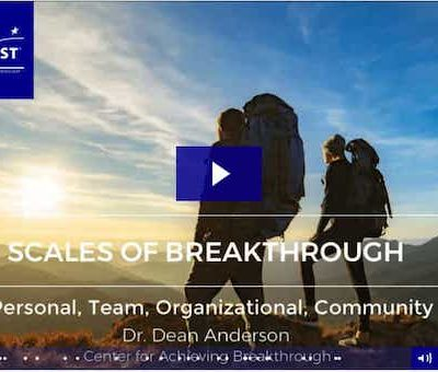 Scales of Breakthrough - Personal, Team, Organizational, Community