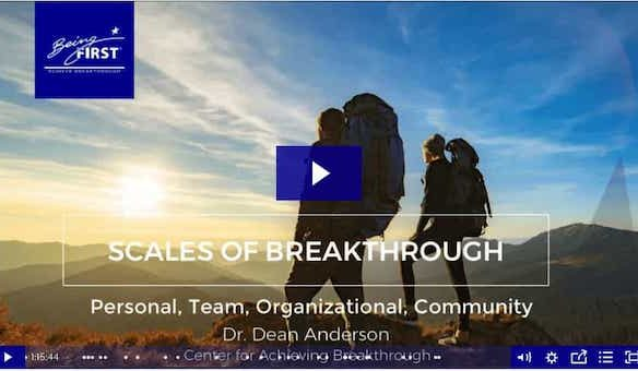 Breakthrough Scales: Personal, Team, Organizational, Communities