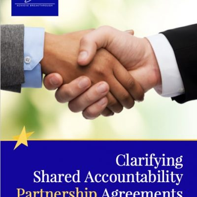 Partnering Agreements - Shared Accountability Tool Being First